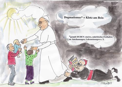 Wir sind Kirche karikatura